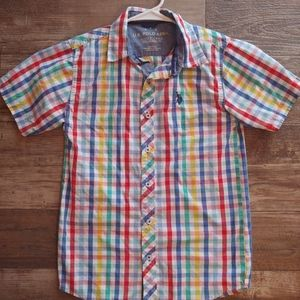 Boys colored button down dress shirt
